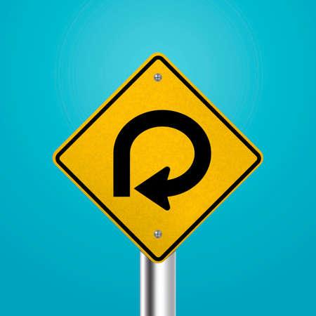 bucle: Grado camino de lazo letrero Vectores