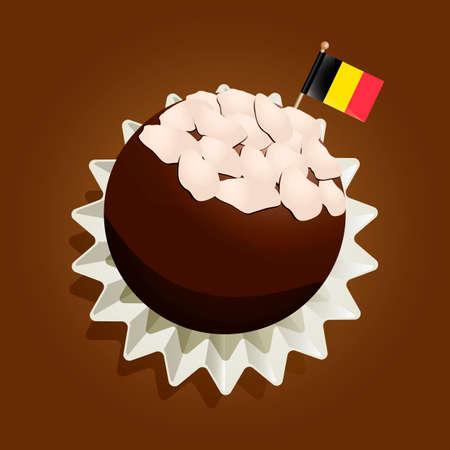 truffle: Belgian truffle Illustration