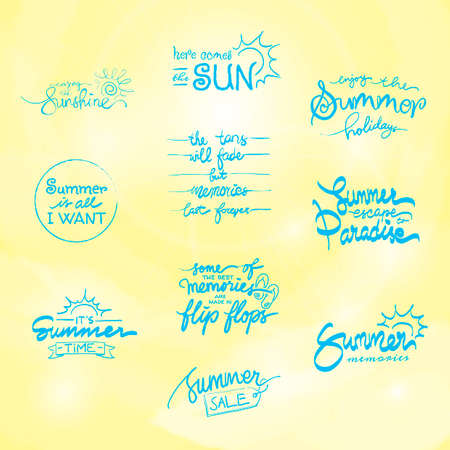 Set of summer typographies