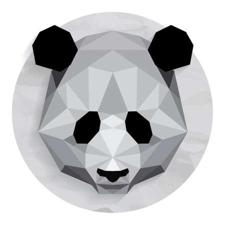 low: Giant panda Illustration