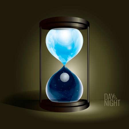 sand watch: Hour glass Illustration