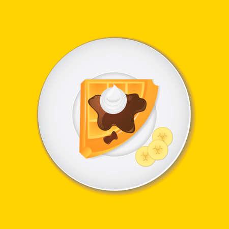 belgian: Belgian waffle Illustration
