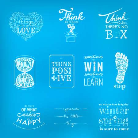 motivational: Set of motivational quotes