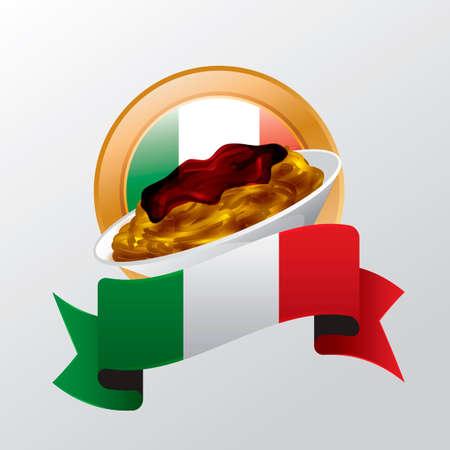 italian cuisine: Spaghetti Illustration