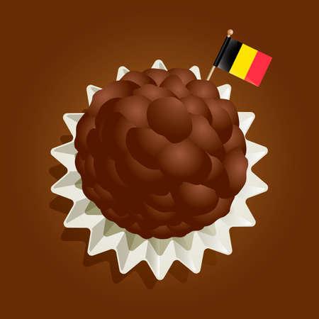 chocolate truffle: Belgian truffle Illustration