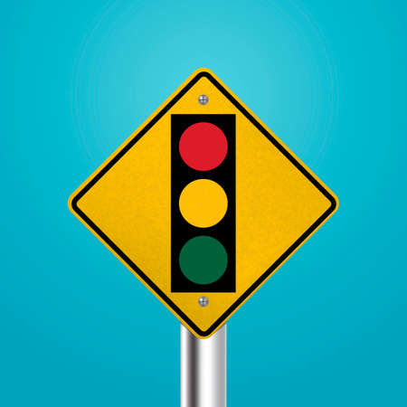 slow down: Traffic signal signboard