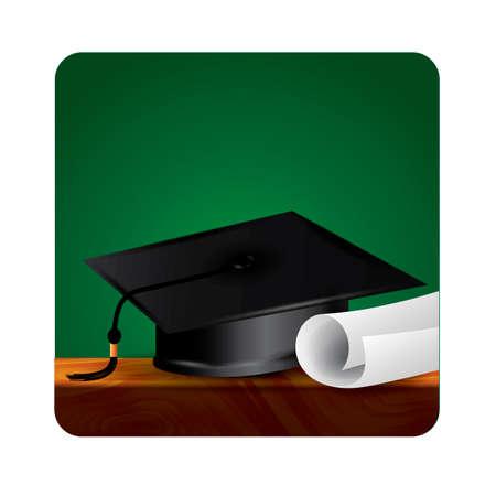 academic achievement: Graduation cap and certificate