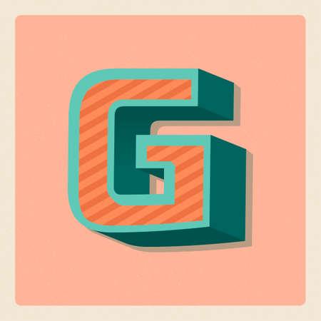 3 dimensional: Letter g Illustration