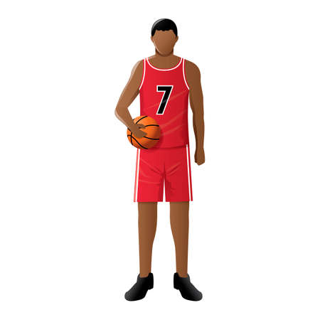 fullbody: Basketball player Illustration