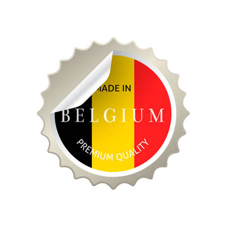belgium: Made in belgium sticker Illustration
