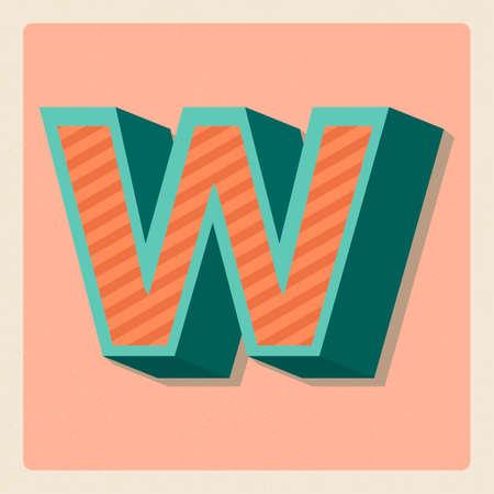 consonant: Letter w