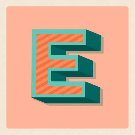 3 dimensional: Letter e