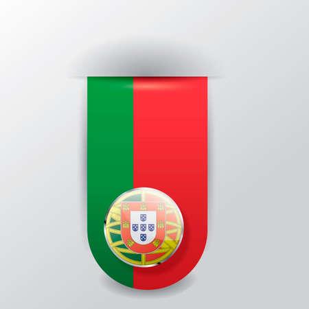 pennant: Portugal hanging pennant Illustration