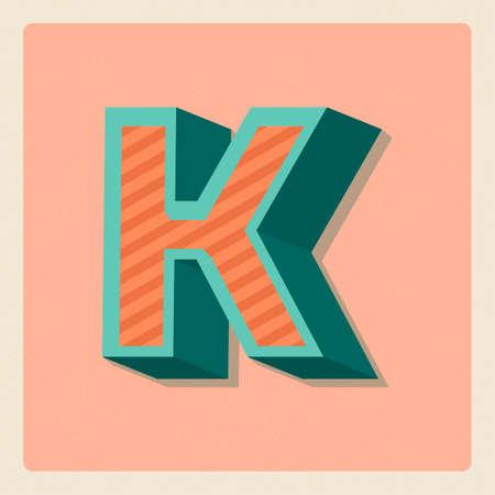 3 dimensional: Letter k