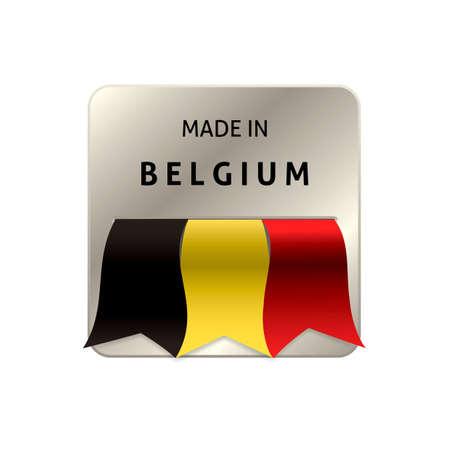 authenticity: Made in belgium label