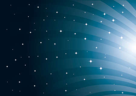 cuve: Night sky background Illustration