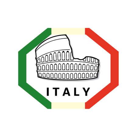 colosseum: Colosseum label Illustration