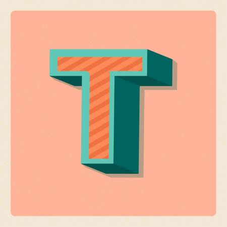 3 dimensional: Letter t