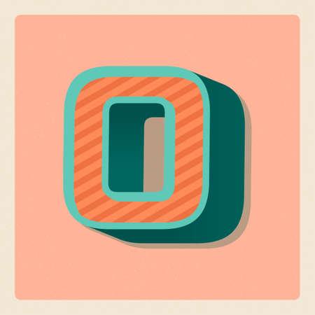 3 dimensional: Letter o