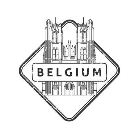 st mark: Belgium stamp