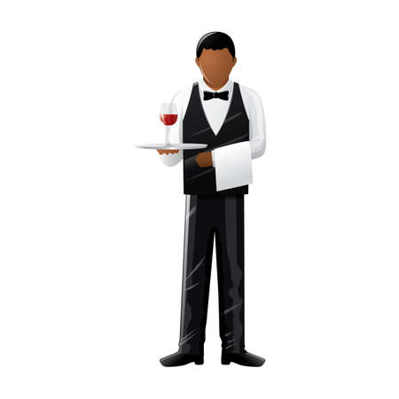 fullbody: Waiter Illustration