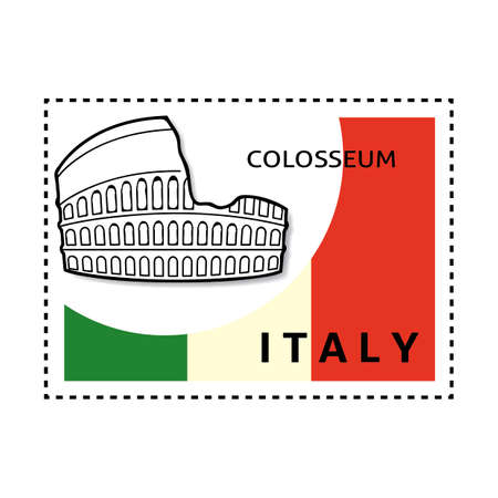 colosseum: Colosseum stamp Illustration