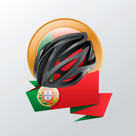 cycling helmet: Portugal label with cycling helmet