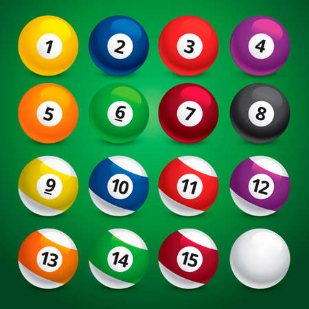 9 ball: Set of snooker balls