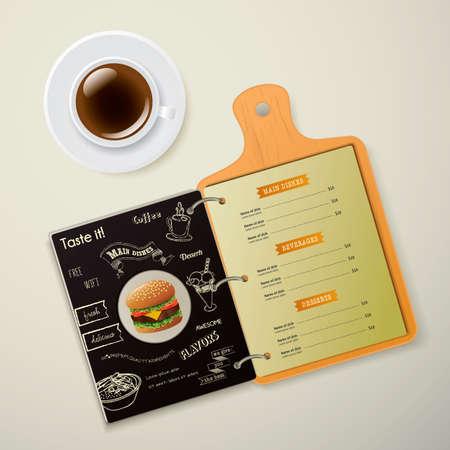 main dishes: Restaurant menu