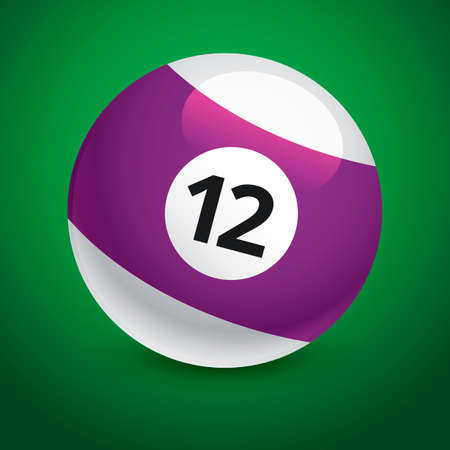 number 12: Snooker ball