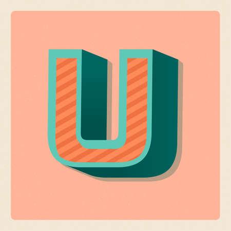 vowel: Letter u