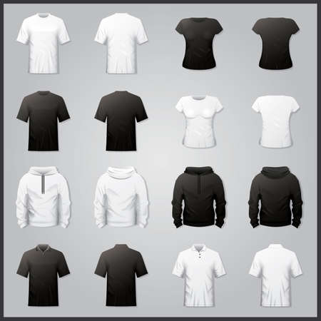 casual hooded top: Collection of shirts and hoodies