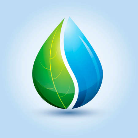 Abstract droplet icon Illustration