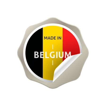 made in belgium: Made in belgium sticker Illustration