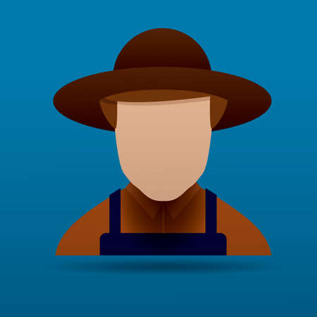 agriculturist: Farmer Illustration