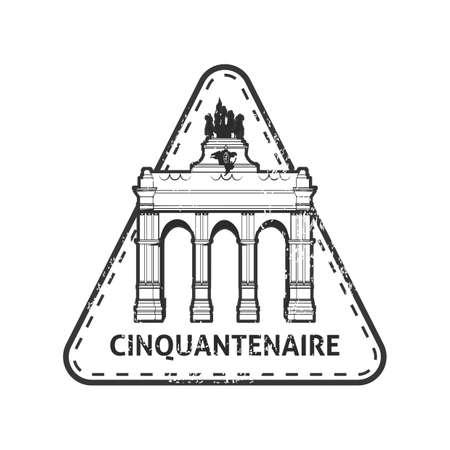 triumphal arch: Cinquantenaire stamp