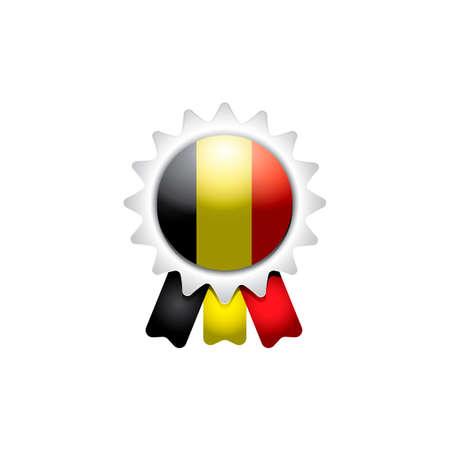 rosette: Belgium rosette Illustration