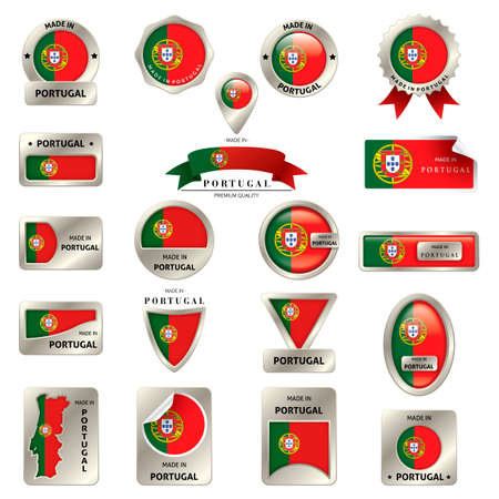 made in portugal: Collection of belgium labels