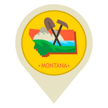 mines: Map pointer with montana state