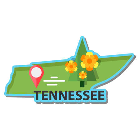 tennesse: Mapa del estado de Tennessee