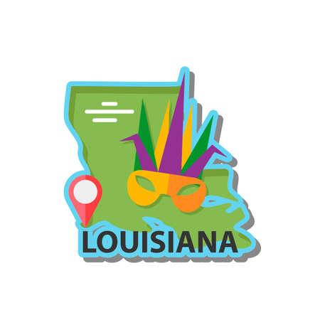 louisiana: Map of louisiana state