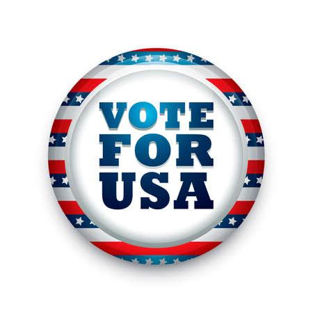 for: Vote for usa badge Illustration