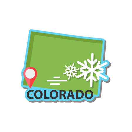 state of colorado: Map of colorado state