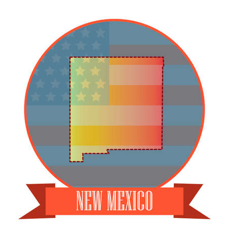 double exposure: Map of new mexico state
