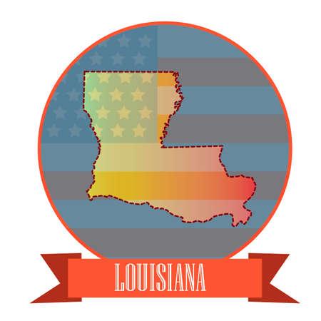 louisiana state: Map of louisiana state