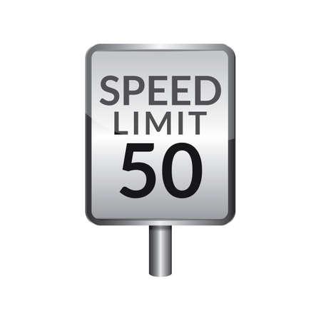 speed limit: Speed limit 50 signboard