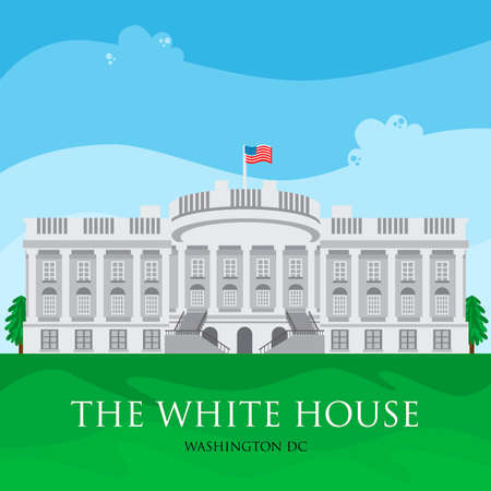 The white house 向量圖像