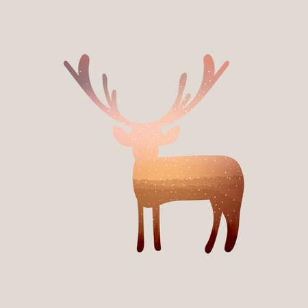 exposici�n: Ciervos Doble exposici�n y la naturaleza