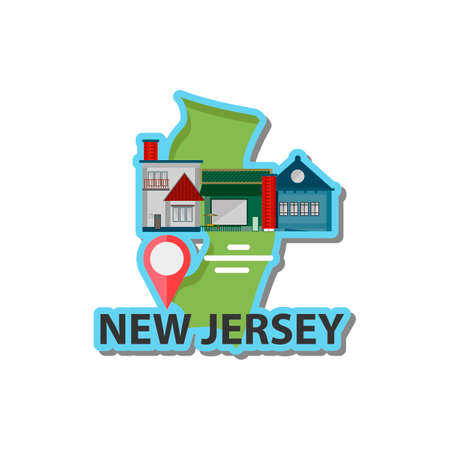 atlantic city: Map of new jersey state