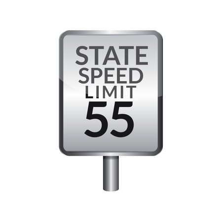 limit: Speed limit 55 signboard Illustration